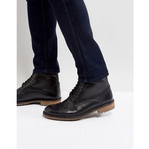 milled boots in black leather - black marki Silver street