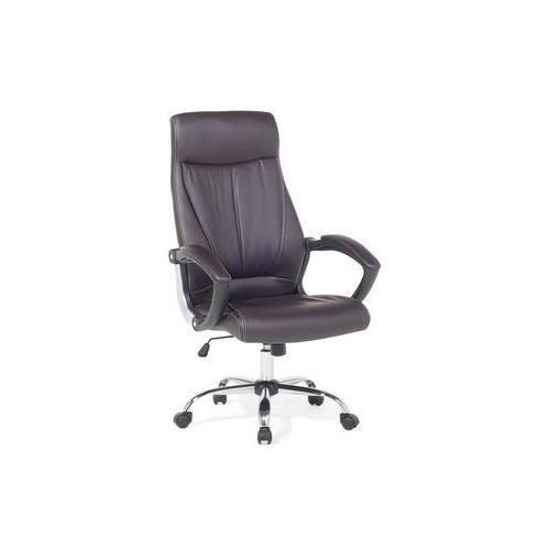 Krzesło biurowe brązowe - meble biurowe - fotel komputerowy - CHAMPION