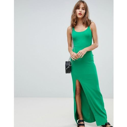 River Island Cami Bodycon Maxi Dress - Green, kolor zielony