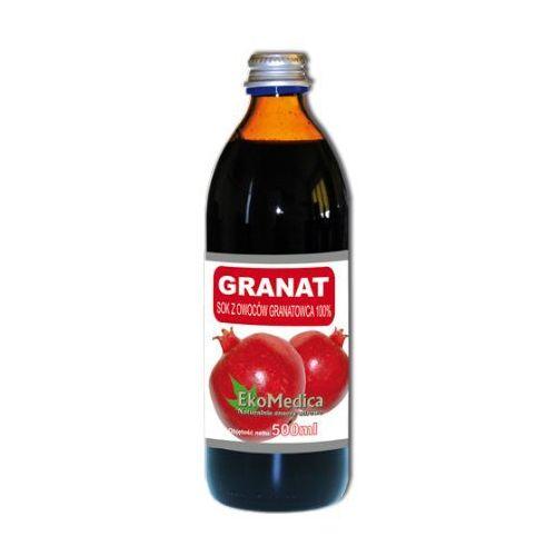 Eka medica granat sok z granatowca 100% 500ml, marki Eko medica