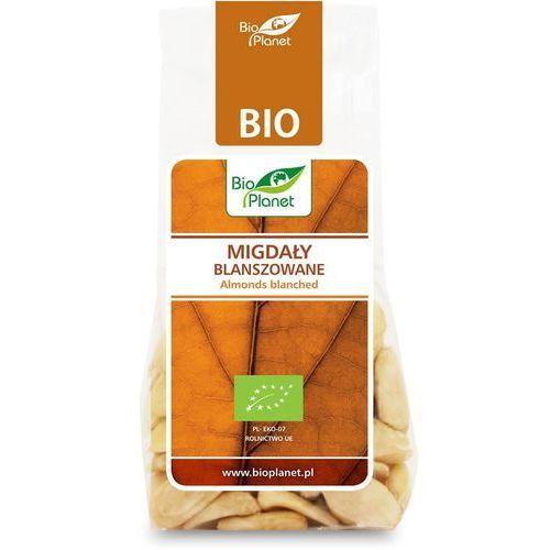 Migdały blanszowane bio 100 g - bio planet marki Bio planet - seria brązowa (orzechy i pestki)