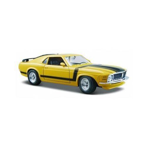 Model kompozytowy ford mustang boss 302 1970 zółty 1/24 marki Maisto