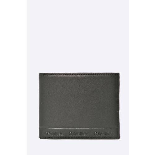 Calvin klein jeans - portfel skórzany arthur slimfold