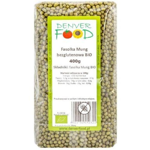 Denver food Fasolka mung bezglutenowa bio 400 g
