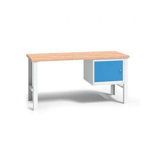 Profesjonalny stół warsztatowy z drewnianym blatem roboczym