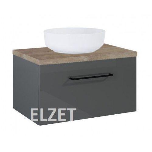 ELITA szafka Futuris 1S anthracite pod umywalkę nablatową + blat 70 dąb classic 167237.166898, kolor dąb