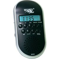 Radio rowerowe Security Plus BR28, czarne, MP3, USB
