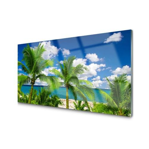 Obraz Akrylowy Morze Palma Drzewa Krajobraz