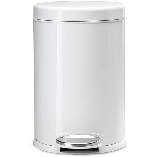 Biały kosz na śmieci 4,5 Litra - pedałowy simplehuman biały (CW1853CB) (0838810009858)