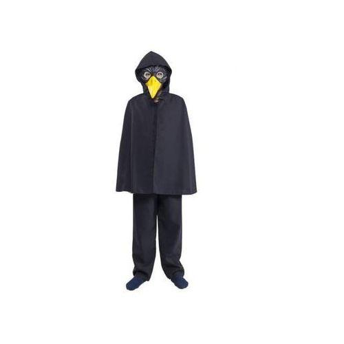 Peleryna z atłasu z kapturem czarna - przebrania / kostiumy dla dzieci, odgrywanie ról - 140, kolor czarny