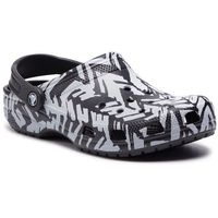 Klapki CROCS - Classic Graphic II Clog 205322 Light Grey/Black, w 7 rozmiarach