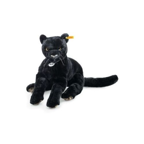 maskotka czarna pantera nero, 40 cm, leżąca, kolor czarny marki Steiff