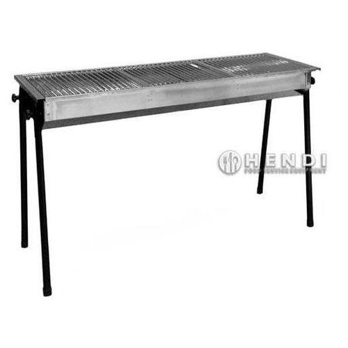Hendi Grill na węgiel drzewny Resto | 3 x 345x345mm | 1130x380x(H)760mm - kod Product ID