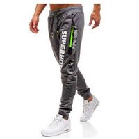 Spodnie męskie dresowe joggery grafitowe Denley KK539