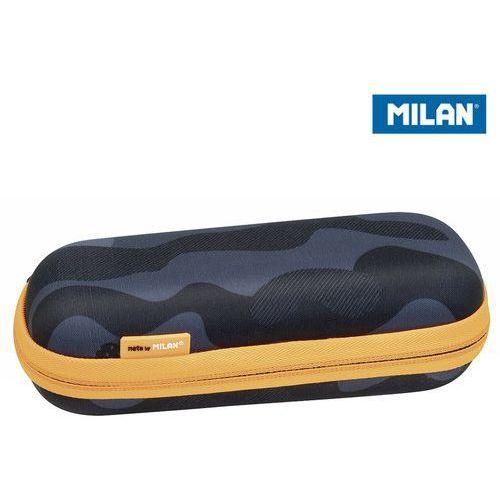 Milan Piórnik owalny usztywniany black camouflage eco czarno-pomarańczowy (8411574084594)