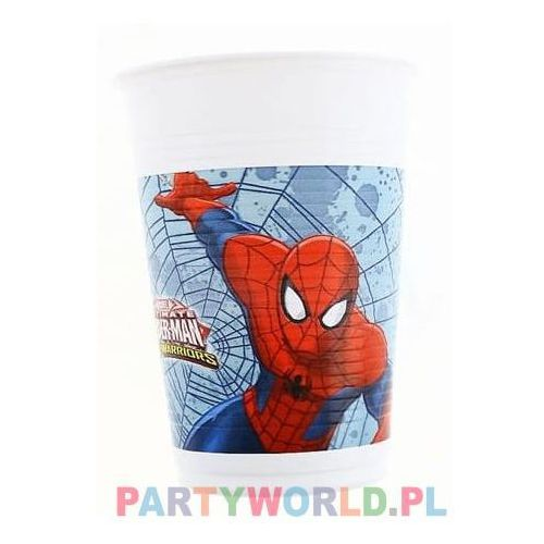 Procos disney Kubeczki urodzinowe ultimate spiderman web warriors - 200 ml - 8 szt. (5201184851531)