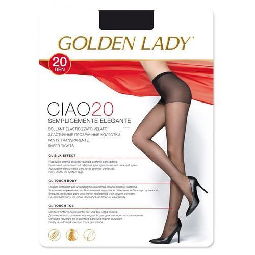 Rajstopy ciao 20 den 2-s, beżowy/visone. golden lady, 2-s, 3-m, 4-l marki Golden lady