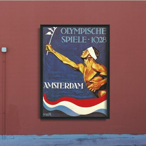 Plakat w stylu retro Plakat w stylu retro Igrzyska Olimpijskie w Amsterdamie