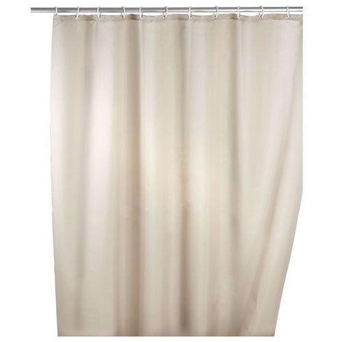 Wenko Zasłona prysznicowa, tekstylna, kolor beżowy, 180x200 cm,
