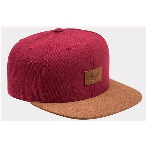 czapka z daszkiem REELL - Suede 6-Panel Wine Red (WINE RED), kolor czerwony