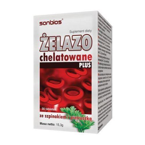 Tabletki Sanbios Żelazo Chelatowe 30 tab.