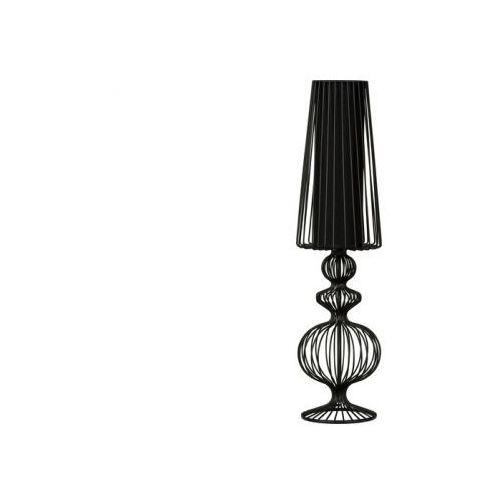 Czarna druciana lampa stołowa AVEIRO Black wys.78cm - Czarny \ 78