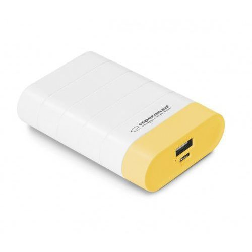 Esperanza power bank 4800mah graviton biało/żółty