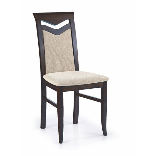 Krzesło drewniane HALMAR CITRONE wenge