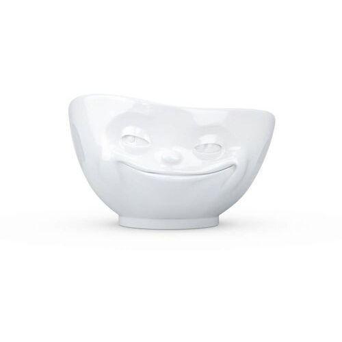 """- miseczka - """"uśmiechnięta buźka"""" - biała błyszcząca - 1,00 l marki 58products"""