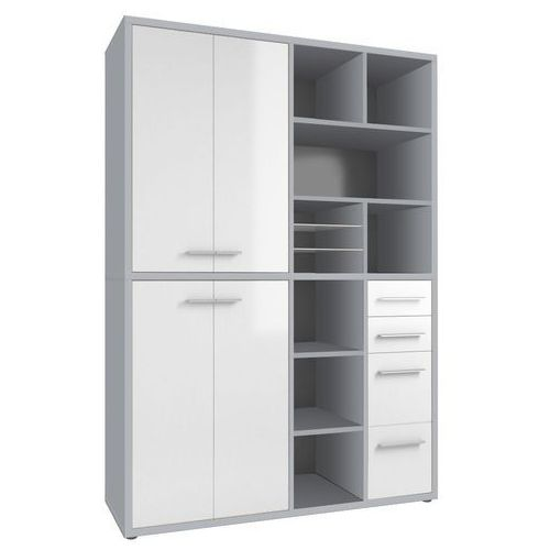 Maja-möbel Regał biurowy set+ 216x155 cm, szary-biały, mdf, 16896346