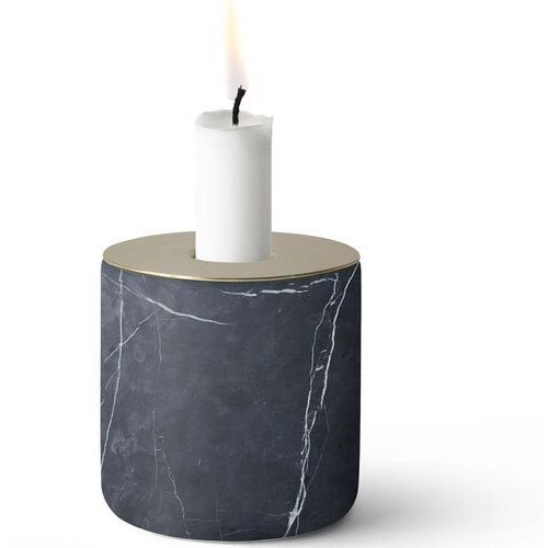 Świecznik Chunk Menu czarny marmur (5615059)