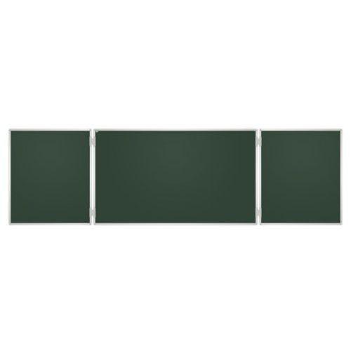 Tablica szkolna Tryptyk zielony gładki 170x100 /340x100/