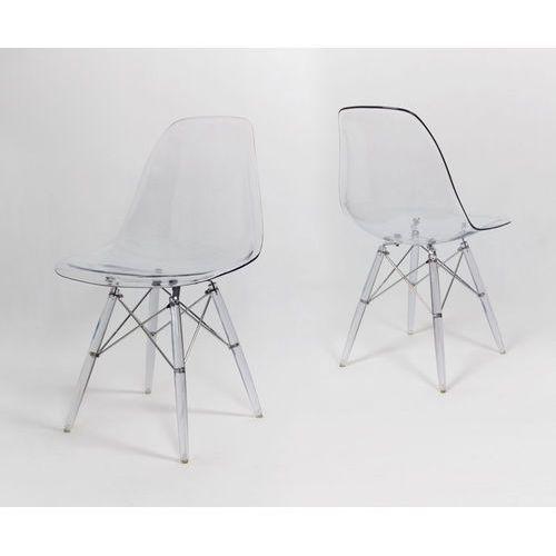kr012 krzesło transparentne lodowe - transparentny \ tworzywo sztuczne marki Sk design