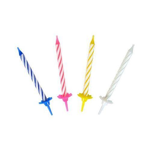 Ar Świeczki kolorowe klasyczne z podstawkami premium - 24 szt. (5907667270805)