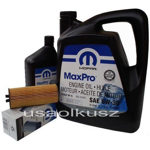 Olej 5w30 oraz oryginalny filtr dodge charger 3,6 v6 -2013 marki Mopar