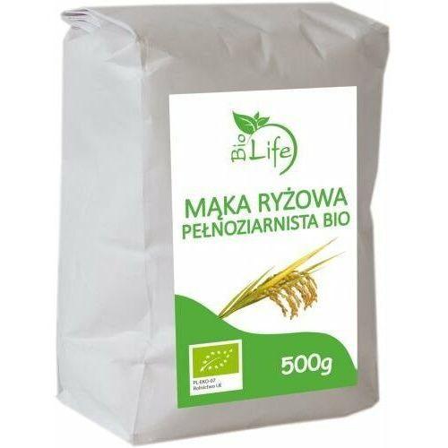 BIOLIFE 500g Mąka ryżowa pełnoziarnista Bio (5901785340792)