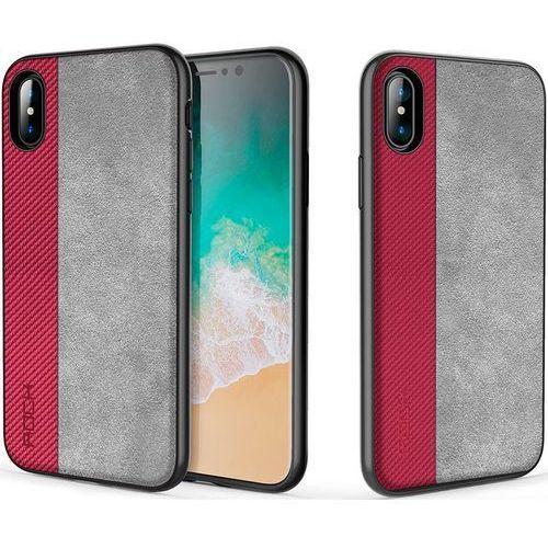 Etui ROCK Origin PRO do Apple iPhone X Czerwony, kolor czerwony
