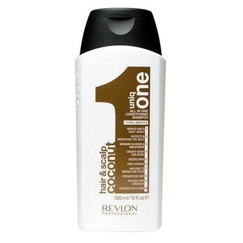 Revlon Uniq One Coconut | Kokosowy odżywczy szampon do włosów 300ml (8432225074320)