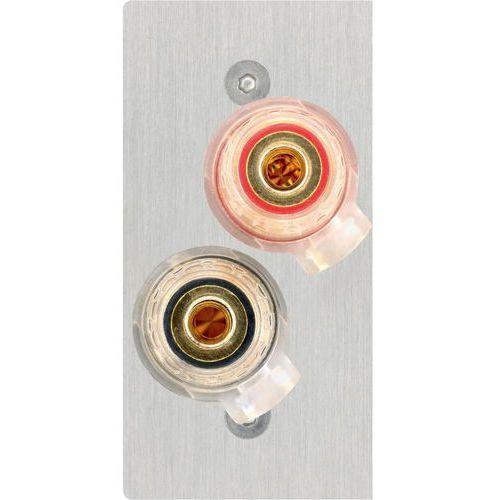 Inakustik Audio przejściówka, adapter  00980107026 980107026, [2x złącze do głośników - 2x do lutowania], stali szlachetnej, wykonanie złącza: proste, miedź
