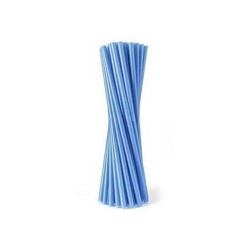 Słomki - rurki niebieskie proste - 24 cm - 500 szt. - niebieski marki Go