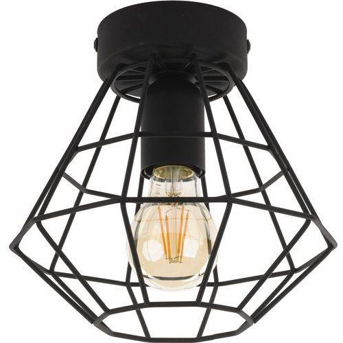Plafon lampa druciana sufitowa diament tk lighting diamond 1x60w e27 czarny 2294 marki Tklighting