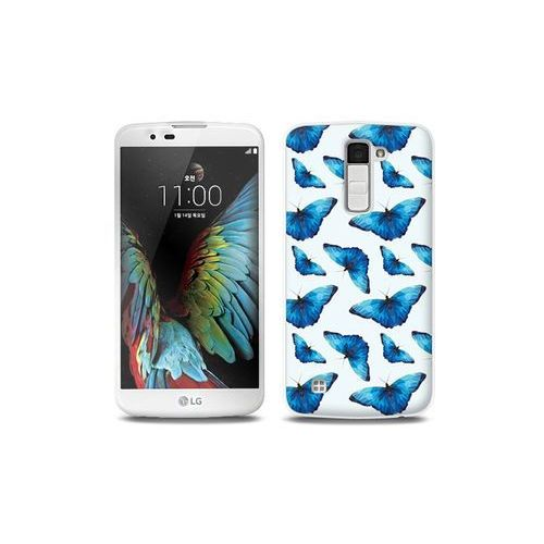 Etuo full body slim fantastic Lg k10 - etui na telefon full body slim fantastic - niebieskie motyle