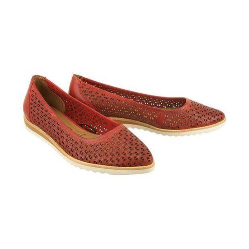 24235-36 czerwony, baleriny czółenka damskie - czerwony marki Tamaris