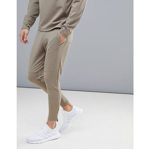 Asos 4505 super skinny training joggers with zip cuff - beige