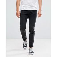 Tom Tailor Skinny Fit Jeans In Washed Black - Black, kolor czarny