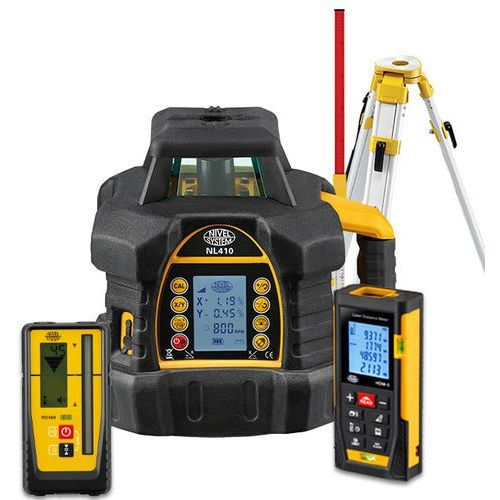 Nivel system Niwelator laserowy nl410 digital + statyw + łata + dalmierz