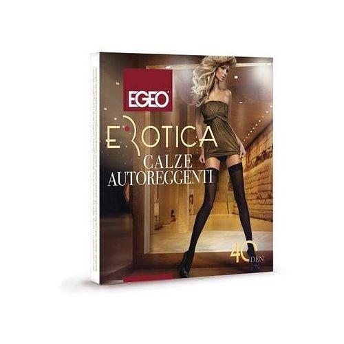 Pończochy Egeo Erotica Microfibra 40 den 1/2, szary/antracit, Egeo, kolor szary