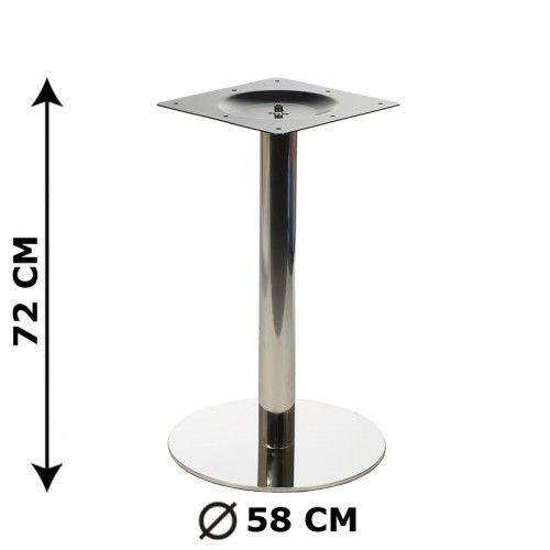 Podstawa stolika fi58, stal nierdzewna polerowana (stelaż stolika) - E11/58/P, E11/58/P