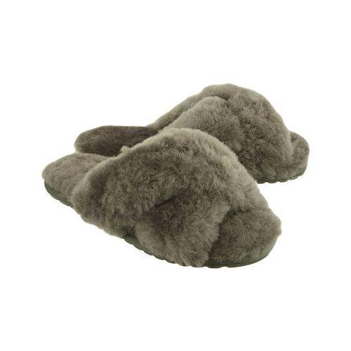 w11573 mayberry charcoal, kapcie damskie - szary marki Emu australia