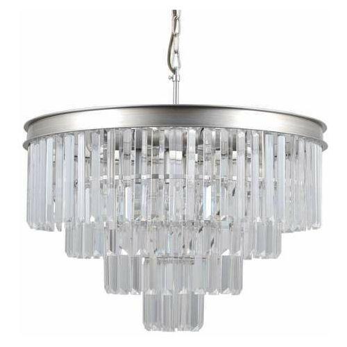 Italux Verdes PND-44372-8A-SLVR-BRW lampa wiszaca zwis 8x40W E14 srebrny